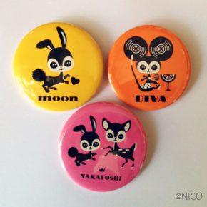 ヴィレッジヴァンガード缶バッジ/SHIBUYA GIRLS POP